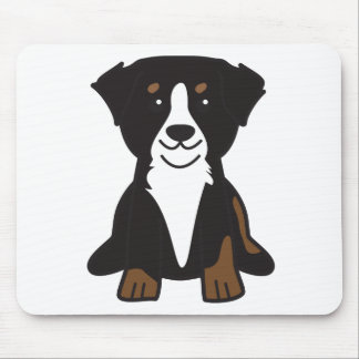 Bernese Mountain Dog Cartoon Mouse Mat