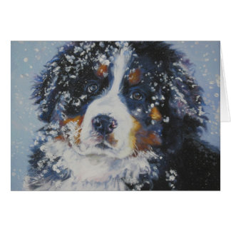 Bernese Mountain Dog Christmas Card