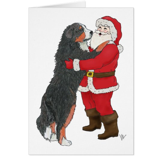 Bernese Mountain Dog Christmas Greeting Card