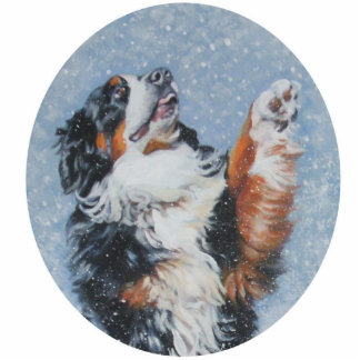 Bernese mountain dog christmas ornament photo cut out