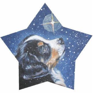 bernese mountain dog christmas ornament acrylic cut out