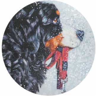 bernese mountain dog Christmas Ornament Cut Out