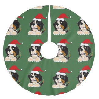 Bernese Mountain Dog Christmas Tree Skirt Brushed Polyester Tree Skirt