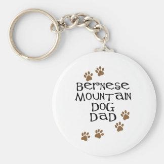 Bernese Mountain Dog Dad Basic Round Button Key Ring