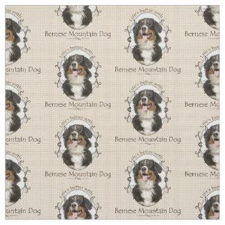 Bernese Mountain Dog Fabric