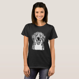 Bernese Mountain Dog Face Graphic Art T-Shirt