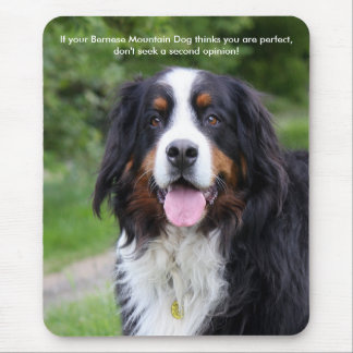 Bernese Mountain dog funny, humour Mouse Pad