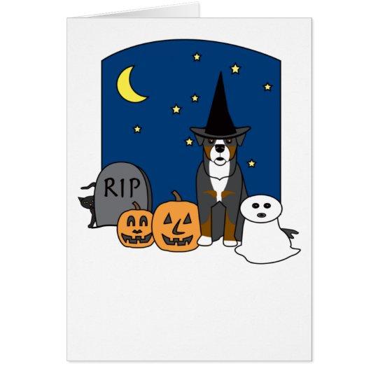 Bernese Mountain Dog Halloween Card