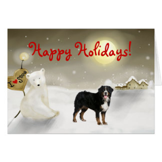 Bernese Mountain Dog Holiday Card