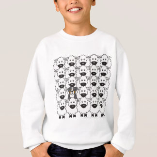 Bernese Mountain Dog in the Sheep Sweatshirt