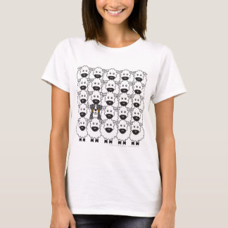 Bernese Mountain Dog in the Sheep T-Shirt