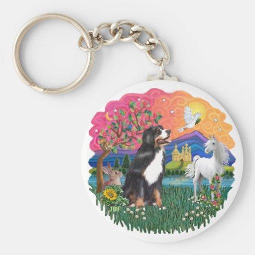 Bernese Mountain Dog Keychains