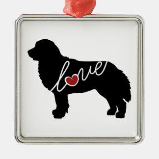 Bernese Mountain Dog Love Christmas Ornament