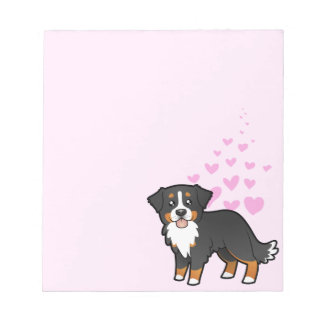Bernese Mountain Dog Love Notepad