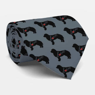 Bernese Mountain Dog Love Tie