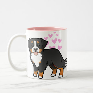 Bernese Mountain Dog Love Two-Tone Coffee Mug