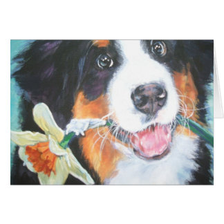 Bernese Mountain Dog Mothers day card