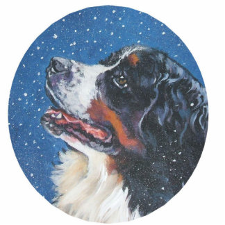 bernese mountain dog ornament photo sculpture decoration