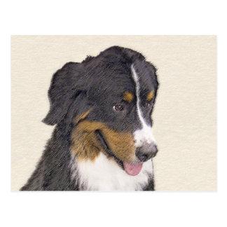 Bernese Mountain Dog Painting - Original Dog Art Postcard