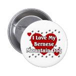 Bernese Mountain Dog Pinback Button