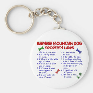 BERNESE MOUNTAIN DOG Property Laws 2 Basic Round Button Key Ring