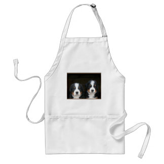 Bernese mountain dog puppies apron