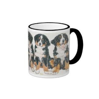 Bernese Mountain Dog Puppies Ringer Mug