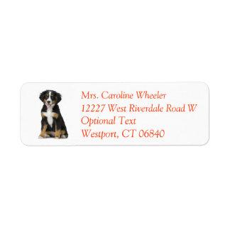 Bernese Mountain Dog Puppy Dog Return Address Return Address Label