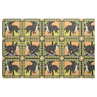 "Bernese Mountain dog ""stained glass"" fabric"
