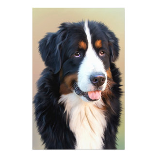 "Bernese mountain dog, the obedient dog 5.5"" x 8.5"" flyer"