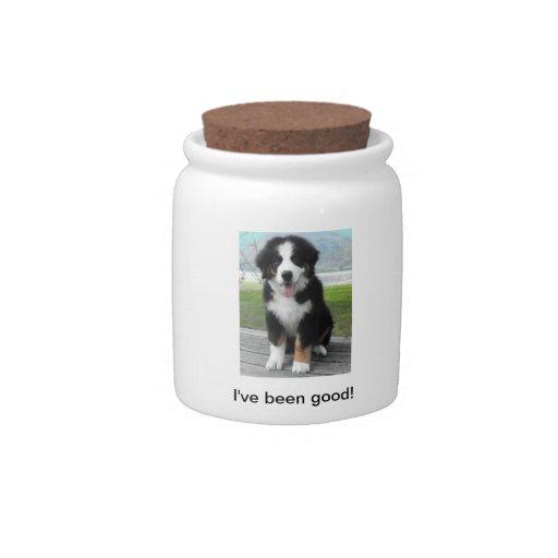 Bernese Mountain Dog Treat Jar Candy Dish
