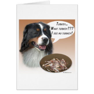 Bernese Mountain Dog Turkey Card