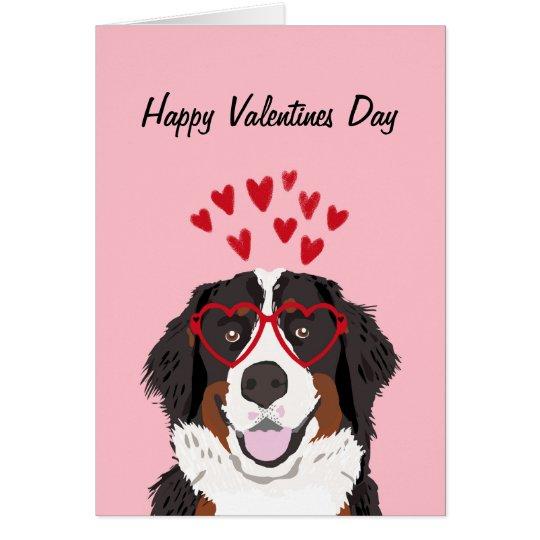 Bernese Mountain Dog Valentines Dog Love Card