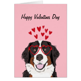 Bernese Mountain Dog Valentines Dog Love Greeting Card