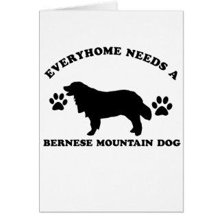 bernese mountain dog vector designs card