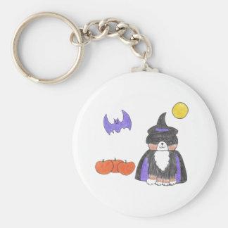 Bernese Mountain Dog Witch Keychain