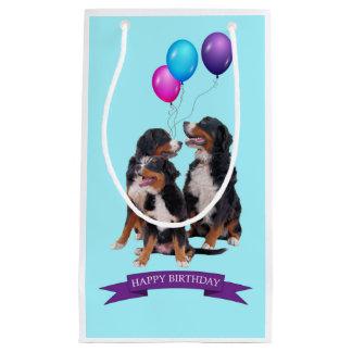 Bernese Mountain Dogs Happy Birthday Gift Bag