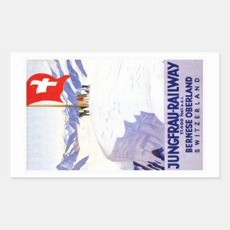 Bernese Oberland Switzerland Vintage Travel Rectangular Sticker