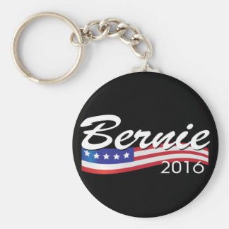 Bernie 2016 basic round button key ring