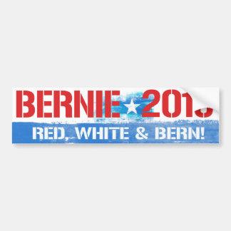 Bernie 2016 - Red White and Bern - Bernie Sanders  Bumper Sticker