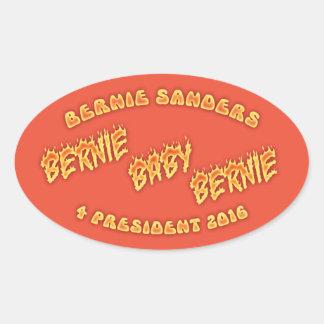 Bernie, Baby, Bernie! Oval Sticker