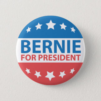 Bernie For President 6 Cm Round Badge
