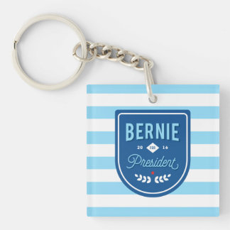 Bernie for President Double-Sided Square Acrylic Key Ring