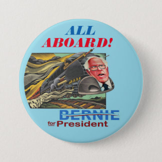 Bernie for President Express 7.5 Cm Round Badge