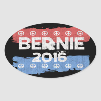 Bernie Peaces Oval Sticker