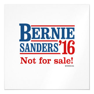 Bernie Sanders 16 - Not for sale Magnetic Invitations