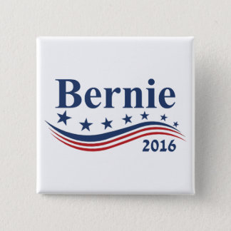 Bernie Sanders 2016 15 Cm Square Badge