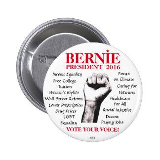 Bernie Sanders 2016 Issues Political Button