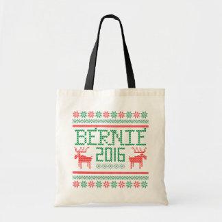Bernie Sanders 2016 President Ugly Holiday Sweater Budget Tote Bag