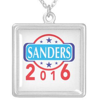 Bernie Sanders 2016 Square Pendant Necklace